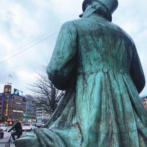 安徒生铜像旅游景点攻略图