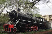 玲珑公园的蒸汽机车 玲珑公园有一台真正的蒸汽机车,保存得还很好,真不容易。这种火车头很少能够看见了,