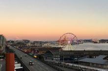 夕阳下的西雅图