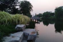 新沂人民公园傍晚夜景