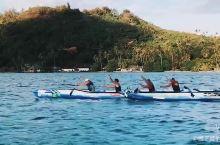 波拉波拉岛划艇比赛训练