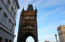 我就站在布拉格黄昏的查理大桥(6)