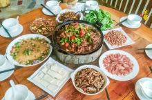 #冬日幸福感美食金寨特色美食吊锅宴这家最地道