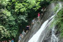 古东瀑布,可以攀爬的瀑布