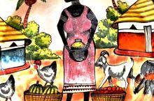 机场,非洲特色的盘子、挂毯,各式的抱枕(可惜没带)。自己家也有各种的盘子,从各个地方带回来的