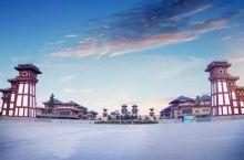 汉宫景区 汉宫景区占地面积600亩,建筑面积15万㎡,分为内宫和外城,内宫是由宫殿区和御花园区组成,
