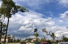 休斯敦的天空和白云