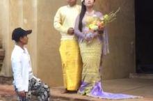 缅甸的蒲甘婚纱照拍摄现场。
