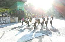印度尼西亚龙目岛城市公园早晨和夜市
