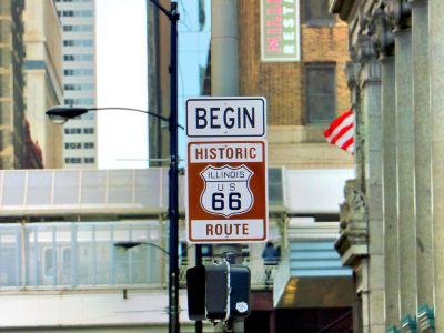 66號公路起點牌