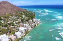航拍夏威夷欧胡岛钻石山