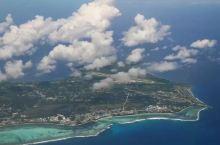 在飞机上拍摄的塞班岛