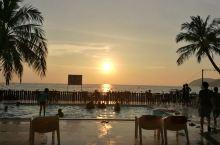 最美兰卡威海边日落