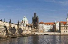 我就站在布拉格黄昏的查理大桥(5)