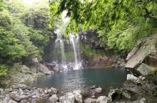 济州岛天帝渊瀑布