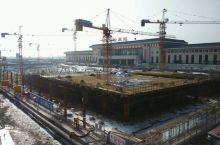 建设中的松原火车站