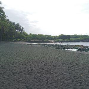 普纳鲁吾黑沙海滩旅游景点攻略图