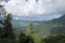 大烟山国家公园—-碧绿无际,白云飞动蔚蓝天