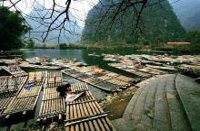 桂林遇龙河,竹筏中的悠然生活
