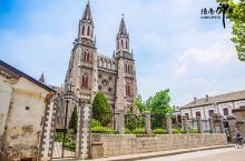 济南拍照好去处‼️洪楼教堂,夺目的哥特式欧式教堂
