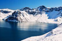 长白山天池看雪