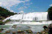 #向往的生活水声沸腾的陡坡塘瀑布