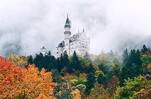 德国🇩🇪新天鹅堡🏰云雾缭绕中的城堡…  