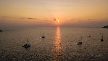神仙半岛帆船日落
