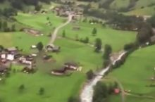 高空下的瑞士施特歇尔贝格小镇