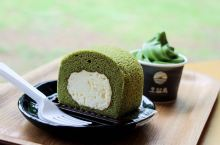 #冬日幸福感美食#去雪绿茶博物馆点一客抹茶蛋糕!