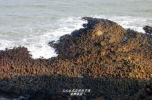 白塘湾罕见的玄武岩柱状节理