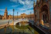 塞维利亚西班牙广场-艳阳下的安达卢西亚