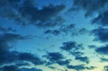 台风登陆后的天空