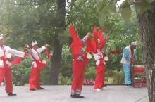延安王家坪的陕北腰鼓表演