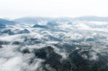 冬季黄山脚下,黟县清晨云海奇观