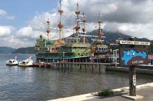 芦之湖-海贼船-乘船到中央是能看到富士山