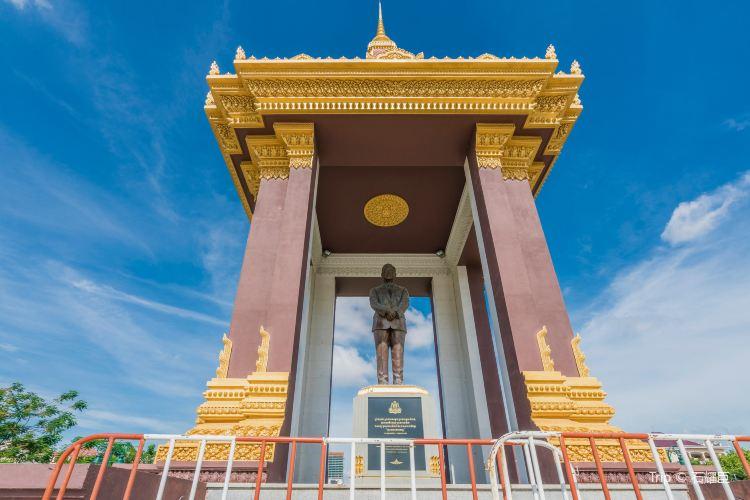 西哈努克銅像紀念堂1