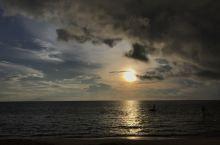 好美的沙滩,好美的日落
