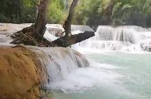 法国美女关西瀑布优美的跳水动作