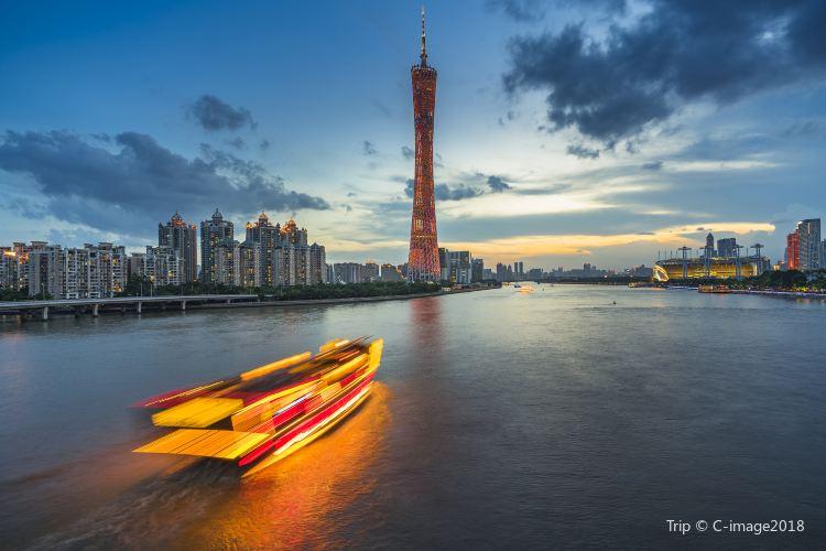 珠江夜遊廣州塔碼頭2