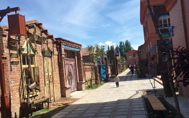 一家四口行走在新疆的一个月