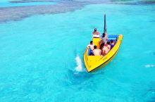 塞班,如凝露般的水,船行水上就像悬在半空中一样
