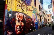 墨尔本涂鸦墙,如梵高的童心驿动和毕加索的支离破碎