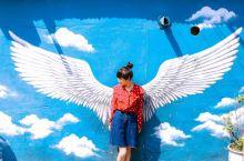 #网红打卡地# #网红墙# 韩国梨花壁画村