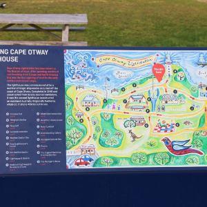 奥特韦角灯塔站旅游景点攻略图