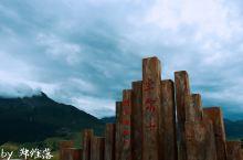青海卓尔山,狂风大作的雨天。