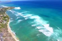 航拍夏威夷欧胡岛钻石山下