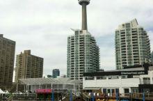 多伦多电视塔下及周边风景