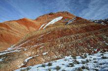 雪后七彩丹霞,一种别样的美。
