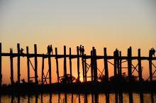 缅甸行行摄摄之第三站 曼德勒 (3)乌本桥日落